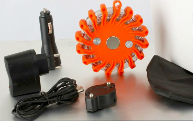 E-L-F LED-Flares are supplied with 220 Volt AC/DC dual car & wall chargers